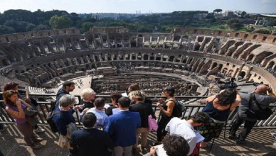 Inauguration of the new Colosseum visit