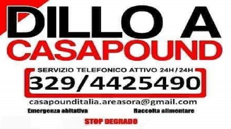 DILLO A CASAPOUND