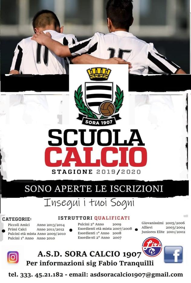 locandina sora calcio 2019