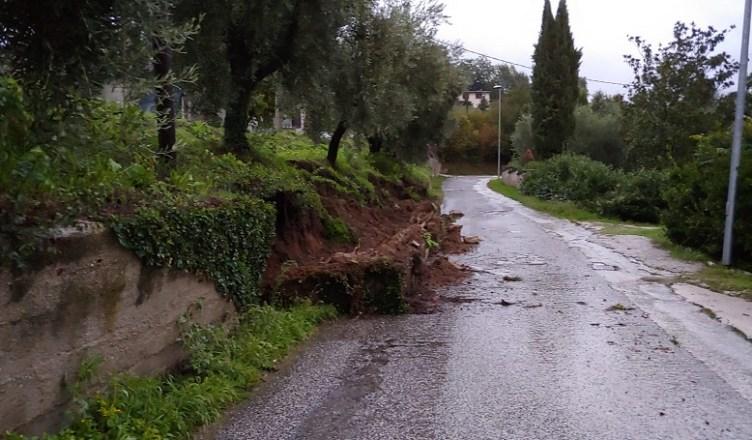 crolla muro al Vallone