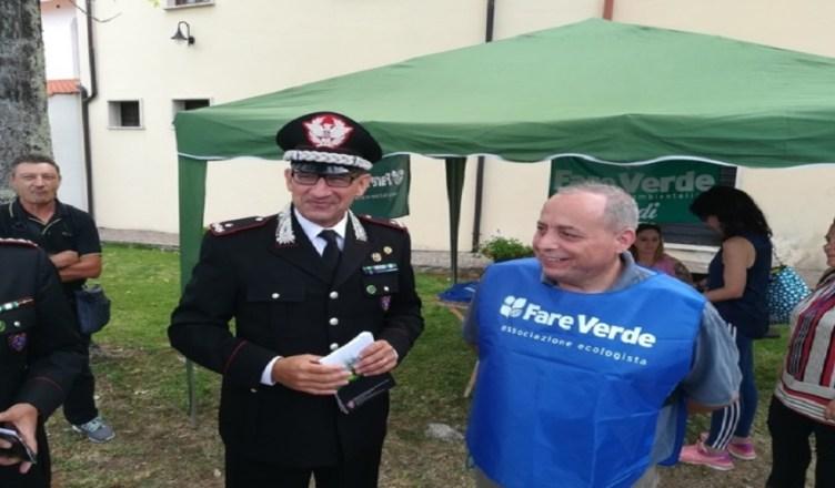 Marco Belli con il generale dei carabinieri forestali Giuseppe Vadalà (FILEminimizer)