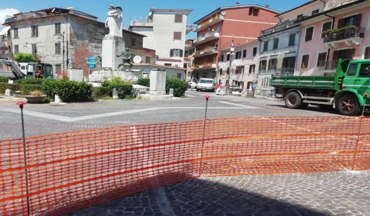 ceccano, lavori in piazza