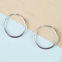 Small Sterling Silver Hoop Earrings | Lisa Angel