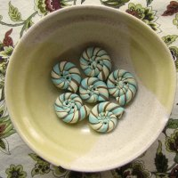Beginner Button Class - Striped Snail Shells
