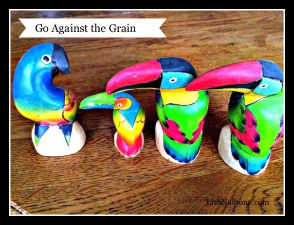 one bird facing three birds facing left - go against the grain lisa nalbone