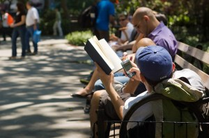 """""""Multitasking in the Park,"""" by  David Goehring"""