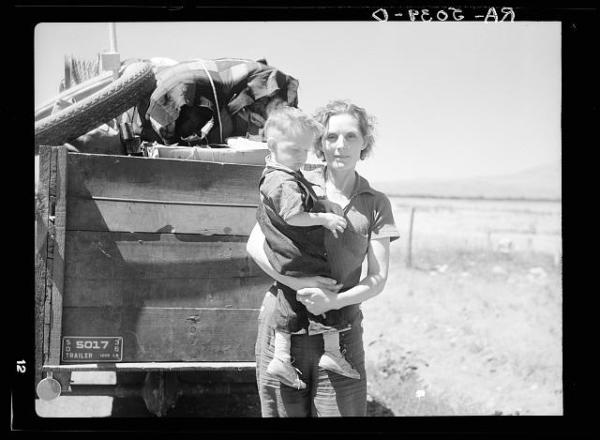 Drought refugees from South Dakota. [traveling through] Montana. Creator: Rothstein, Arthur. Library of Congress