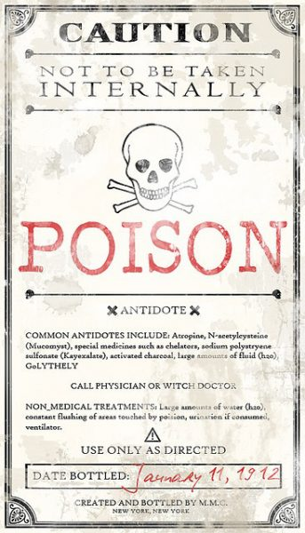 DIY Crafty Poison Halloween Bottles