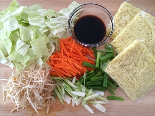 yakisoba ingredients