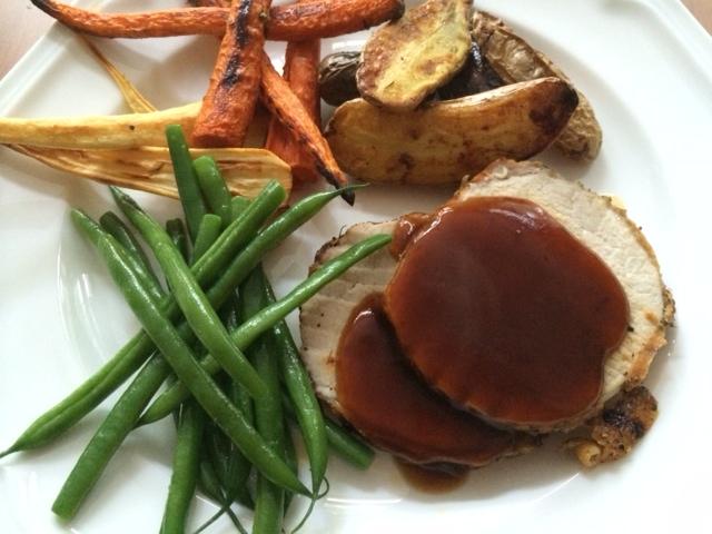 roast dinner plate