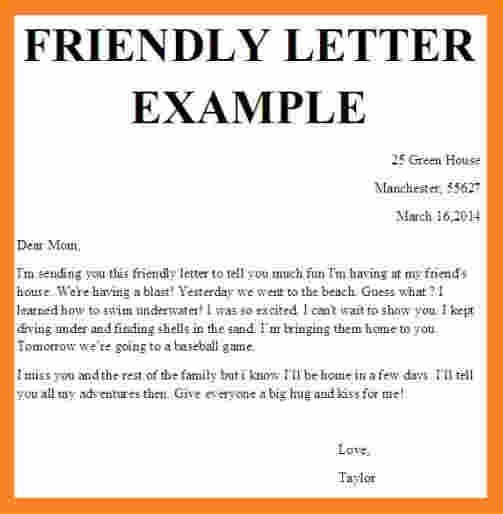 10+ Friendly Letter Template For Kids Invoice Template Download