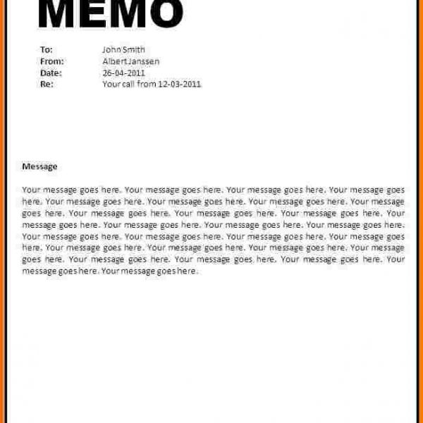 4 Word Memo Template Receipt Templates intended for Memo Format