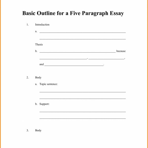 6 Simple Outline Format Cook Resume For 5 Paragraph Essay Template - resume outline format