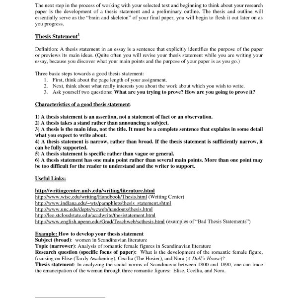 Amazing Thesis Statement Example Research Paper Photo With with