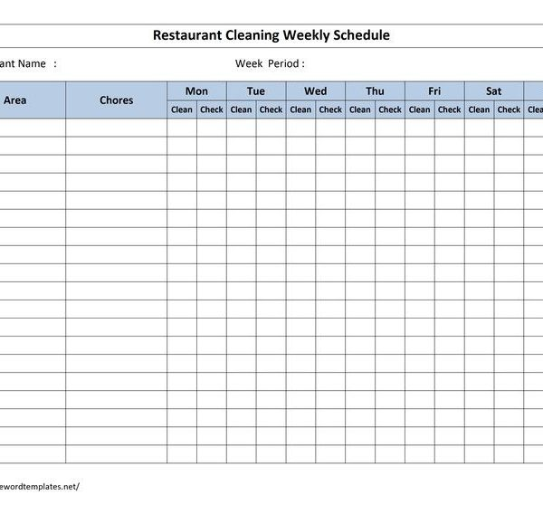 Best 25+ Cleaning Schedule Templates Ideas On Pinterest Weekly