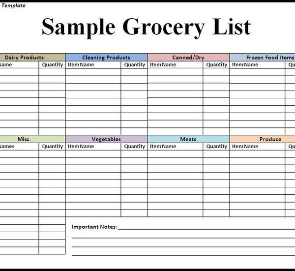 Best 25+ Grocery List Templates Ideas On Pinterest Recipe And