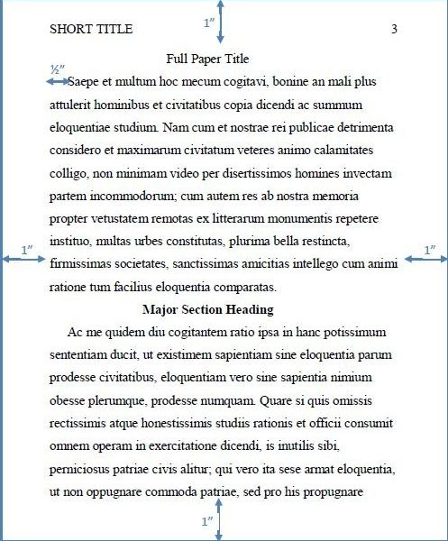 Best Photos Of Apa Paragraph Example \u2013 Apa Style Paper Format for