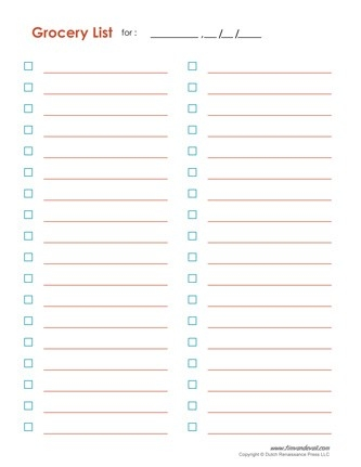 Grocery List Template Printable oakandale - grocery list examples