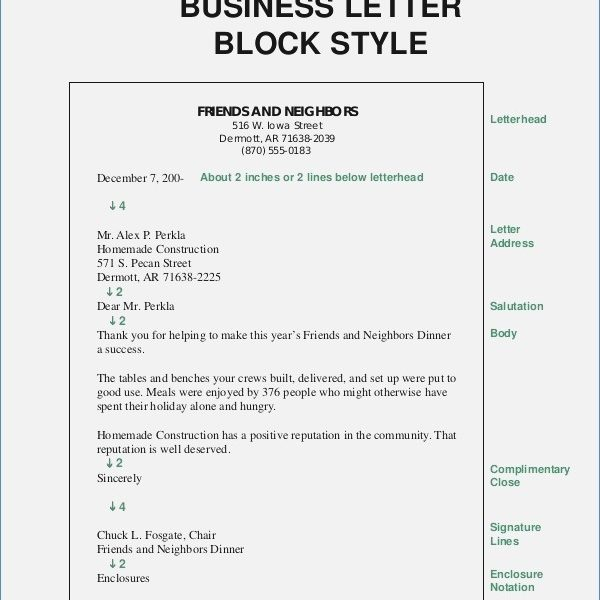 Block Style Format Business Letter \u2013 Premierme throughout