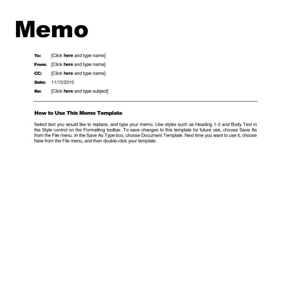 Business Memo Format Microsoft Word Examples And Forms throughout