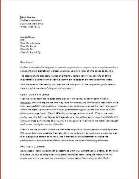 Business Proposal Cover Letter Sample Letters Scoop Creating Plan
