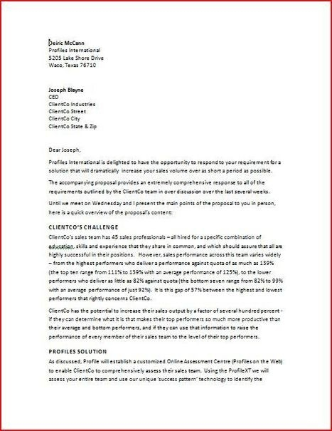 sample business proposal letters thank you letter template letter