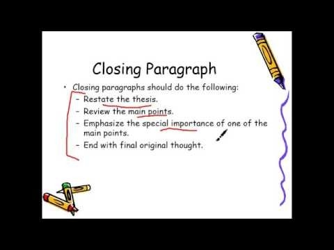 Closing Paragraph For Literary Analysis Essay \u2013 Youtube inside
