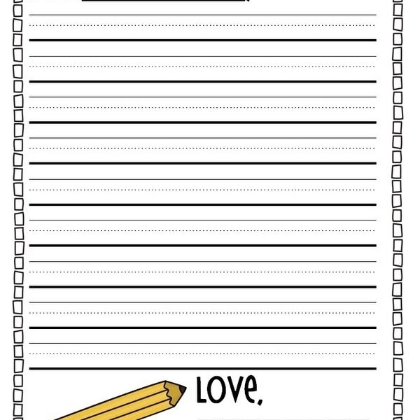 Cool Letter Writing Paper First Grade For Friendly Letter Format - friendly letter format