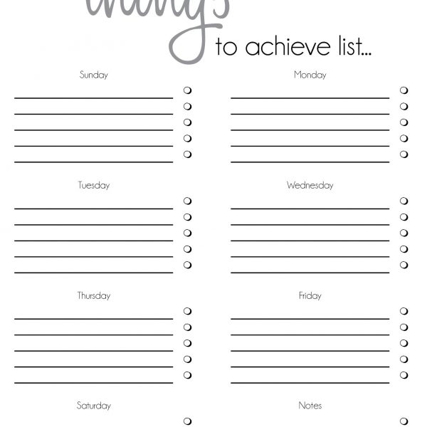 daily to do list template for word - Alannoscrapleftbehind