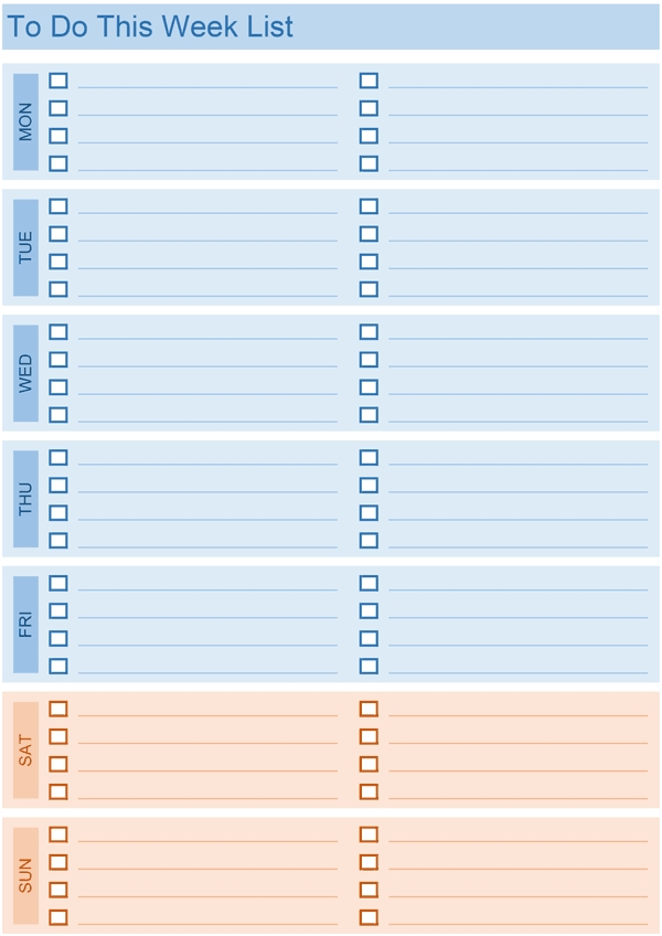 Excel Daily To Do List Template Examples and Forms - daily list templates