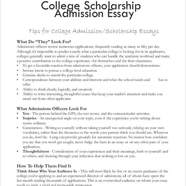 Essays For College Scholarships \u2013 Fieldstation within College