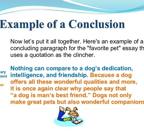 Examples Of A Good Conclusion For An Essay \u2013 Sonroundrobin with