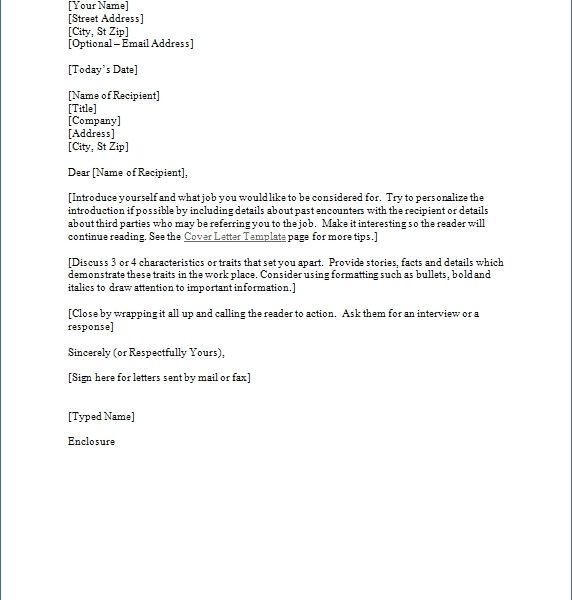 Formal Business Cover Letter Format World Of Example inside Formal - cover letters format
