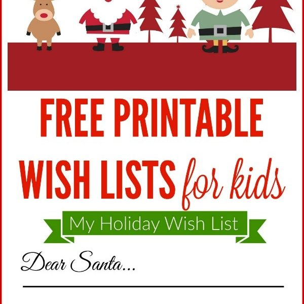 Free Printable Holiday Wish List For Kids Making Lemonade intended