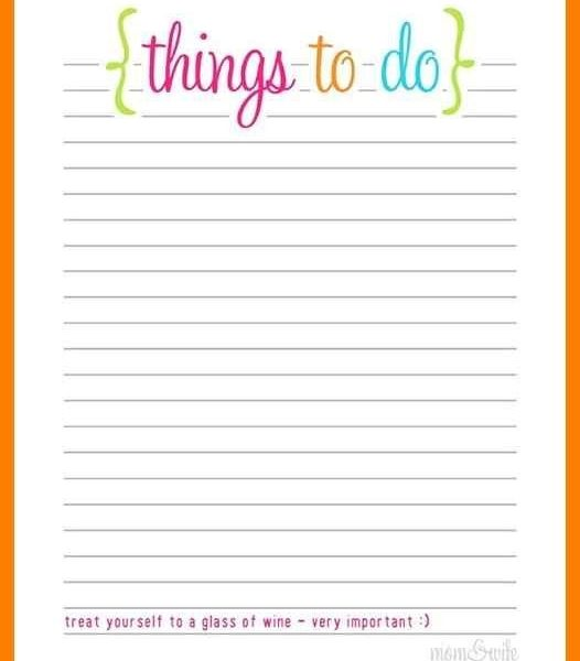 Free Printable To Do List Templates Calendar 2018 in Cute To Do