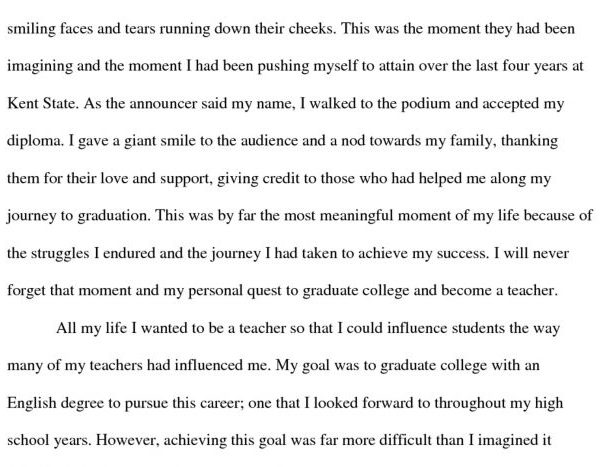 High School Personal Narrative Essay Examples For College Sample