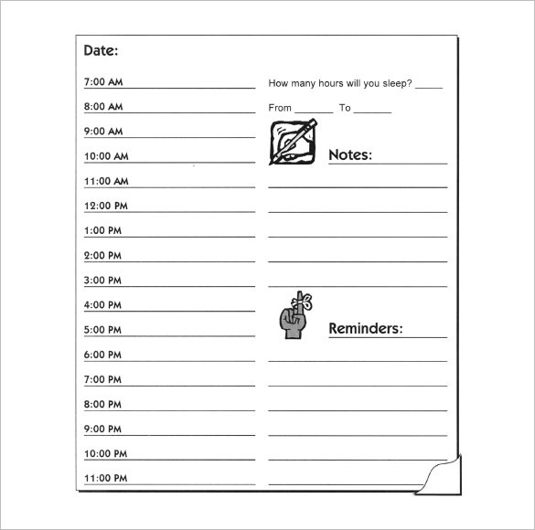 Hourly To Do List Template Examples and Forms