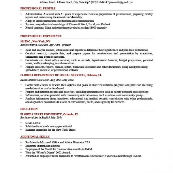 How To Write A Professional Profile Resume Genius regarding Sample - how to write a profile for a resume