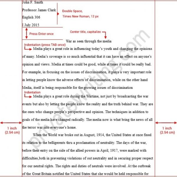 How To Write An Mla Format Essay \u2013 Asafonggec with College Essay