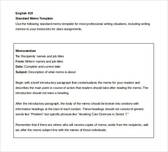 Internal Memo Templates \u2013 15+ Free Word, Pdf Documents Download