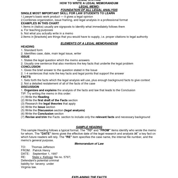 Legal Memo Format Irac World Of Example for Legal Memo Format Irac - legal memo format