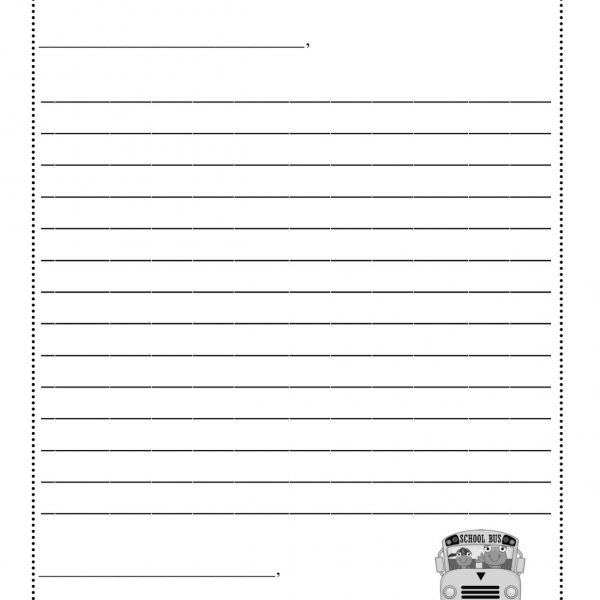 Letter Template For Kids Printable \u2013 Fieldstation with Letter