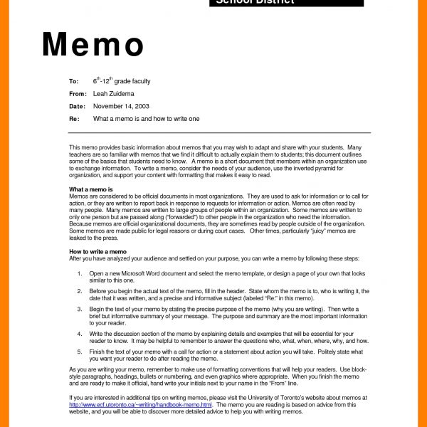 Memorandum Example \u2013 Asafonggec in Business Memo Format Closing