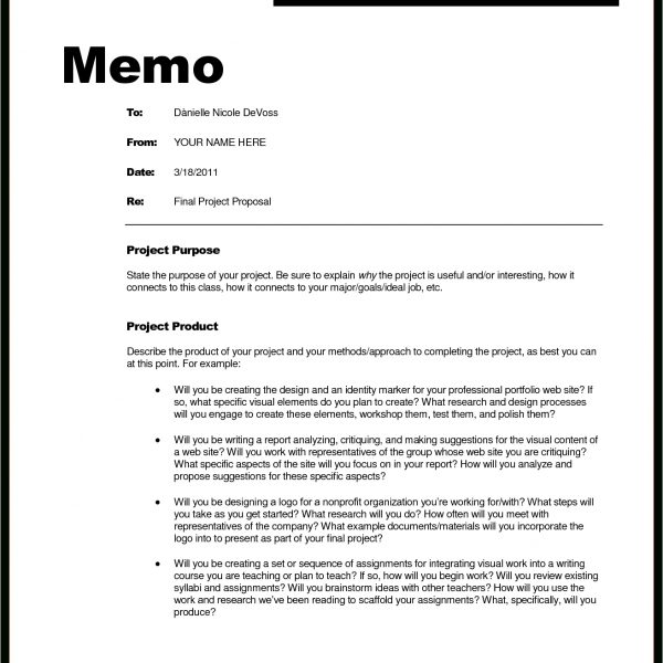 Memorandum Format With Headings World Of Example within Memo - project memo template
