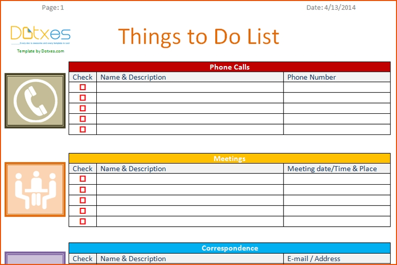 Office To Do List Template Examples and Forms
