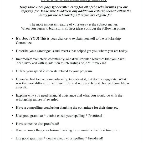 Personal Essay For Scholarship Examples Write Scholarship Essay
