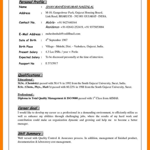 Profile Sample, How To Write A Professional Profile Resume Genius