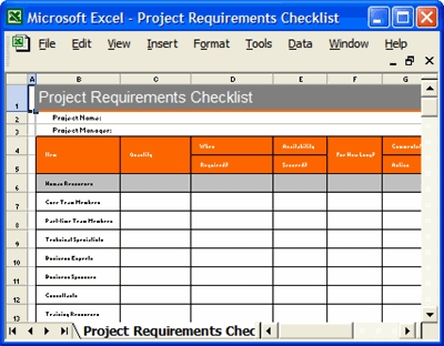 Project Manager Checklist Excel \u2013 Fieldstation pertaining to