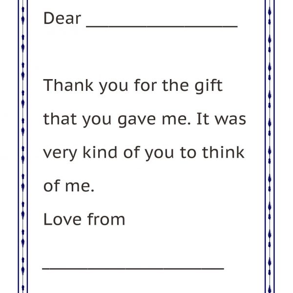 Thank You Letter Format For Kids Letters pertaining to Thank You