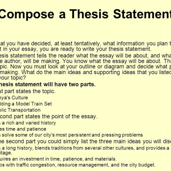 Thesis Statement Examples For Argumentative Essays Photo intended